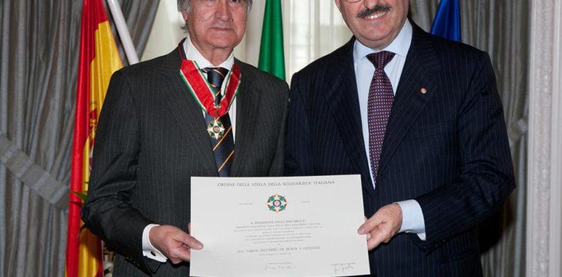 Prestigioso riconoscimento a Carlos Escudero de Burón
