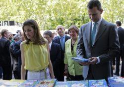 Il Principe delle Asturie e la consorte Letizia all'inaugurazione della Fiera del Libro di Madrid