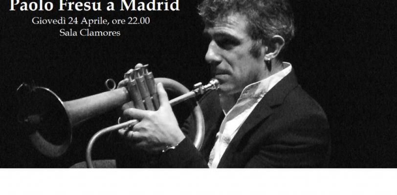 Il jazzista Paolo Fresu in concerto a Madrid.