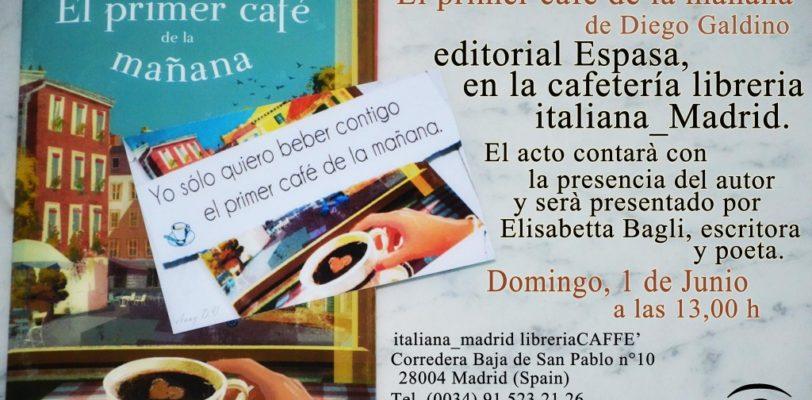 """Presentazione del libro """"El primer cafè de la mañana"""" di Diego Galdino"""