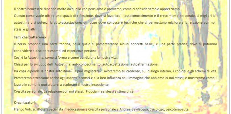 Corso di Autostima e sviluppo personale