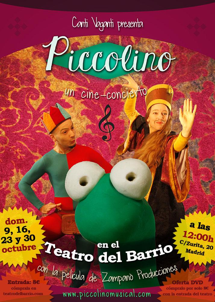 PICCOLINO, UN CINE-CONCERTO TRILINGUE NEL TEATRO DEL BARRIO A MADRID