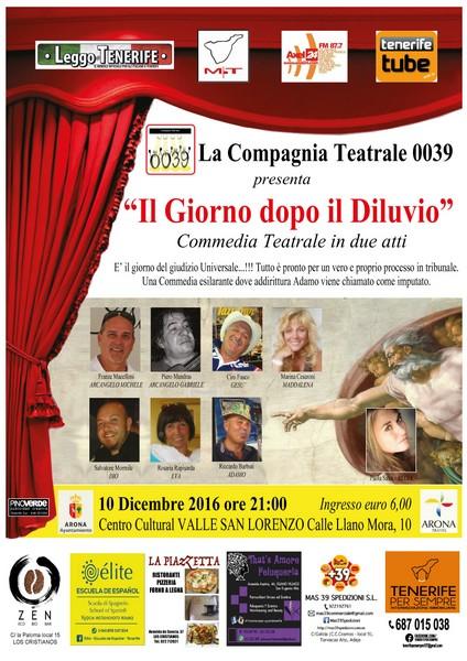 IL GIORNO DOPO IL DILUVIO, teatro in italiano a Tenerife