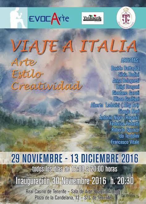 TENERIFE accoglie la mostra VIAJE A ITALIA – Arte Estilo Creatividad