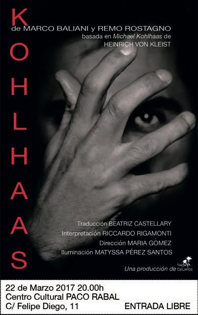 Kohlhaas di Marco Baliani e Remo Rostagno a Madrid