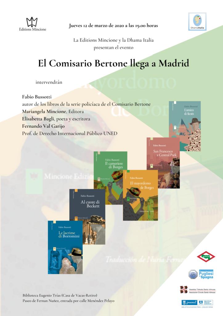 Il Commissario Bertone arriva a Madrid, presentazione dei libri di Fabio Bussotti